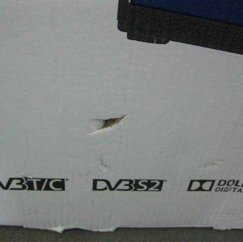 Hier auch noch mal  - (Bildschirm, Beschädigt einschicken Fernseher, Transport Schäden)