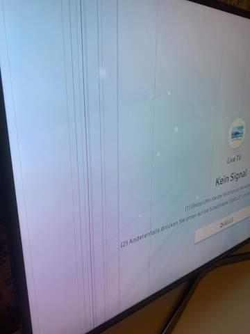 Fernsehr hat Streifen im Bild?