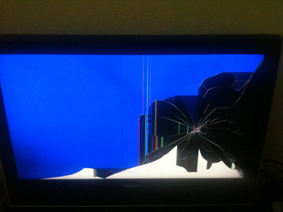 ferseher fersehbildschirm kaputt tv fernsehen fernseher. Black Bedroom Furniture Sets. Home Design Ideas