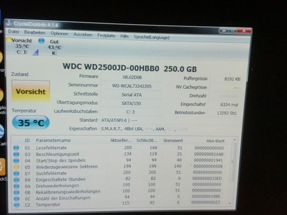 Crystal Disk Info - (PC, Hardware, Festplatte)