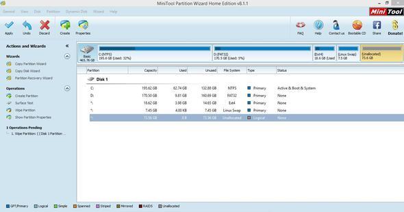 screenshot von der Festplatte - (Windows, Festplatte, Linux)