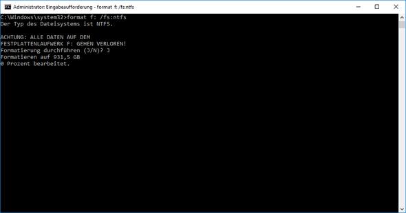 Fortschriftt - (PC, Festplatte, formatieren)