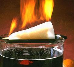 Feuerzangenbowle ohne Alkohol? (Getränke, brennen, Feuer)