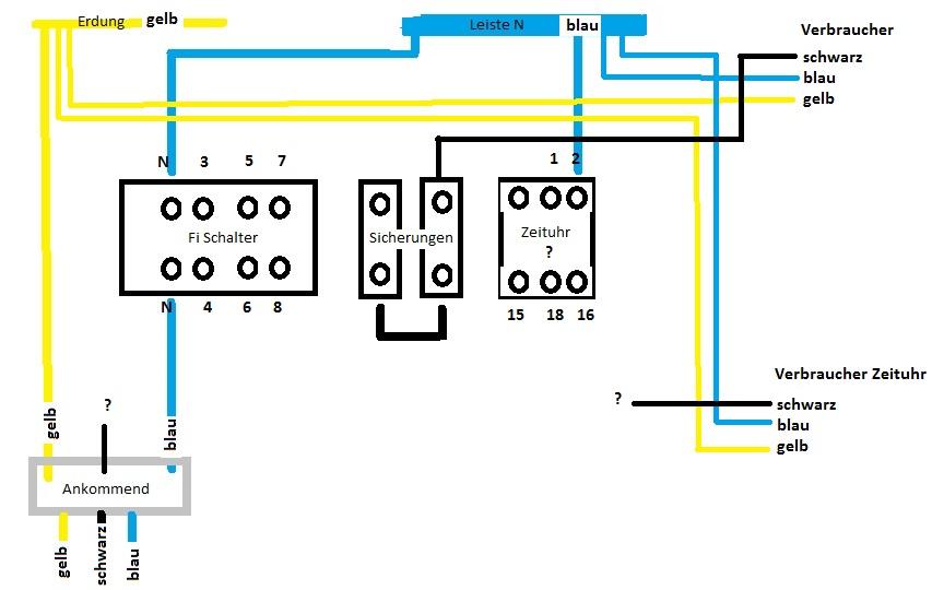 Fi Schalter Anklemmen : fi und zeituhr anklemmen computer stromplan ~ Whattoseeinmadrid.com Haus und Dekorationen