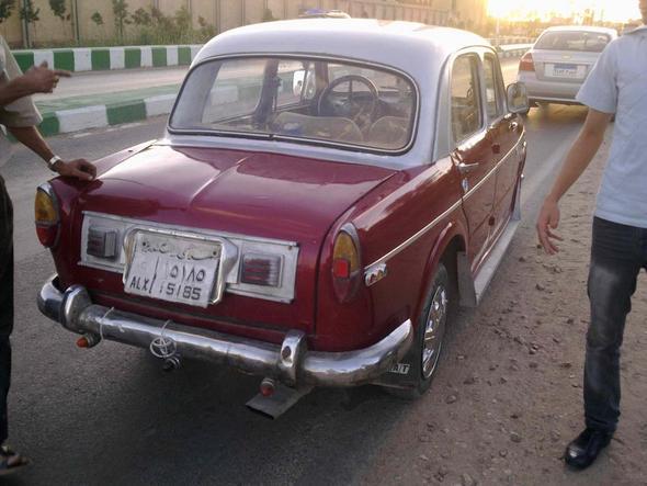 FIAT 1100 von hinten - (Auto, Oldtimer, Fiat)