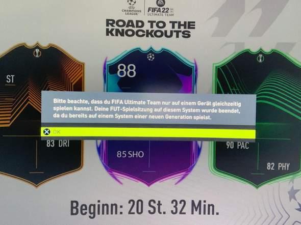 FIFA 22 PS4 Version Fehler?