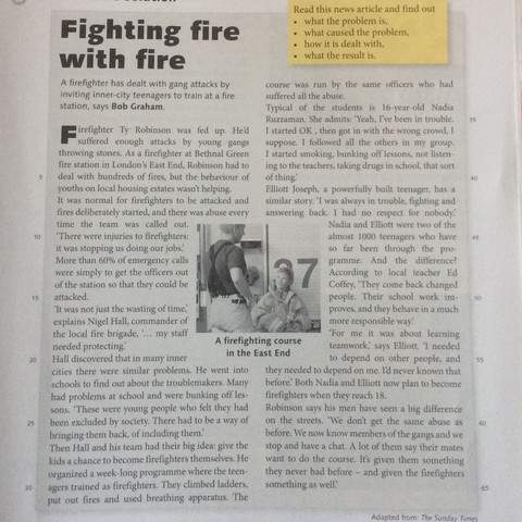 Fighting Fire With Fire Zusammenfassung Englisch Text