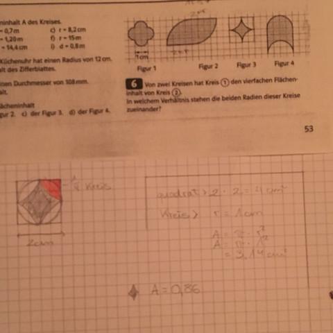 Dort sind Figuren neben einander Hilfe brauch ich bei 3 - (Mathe, Kreis)