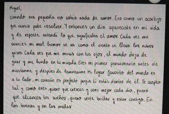 Fiktiver Liebesbrief gelungen? (Spanisch)?
