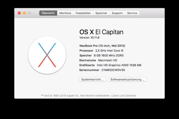 Macbook Informationen - (MacBook, Mac OS X, Filevault)