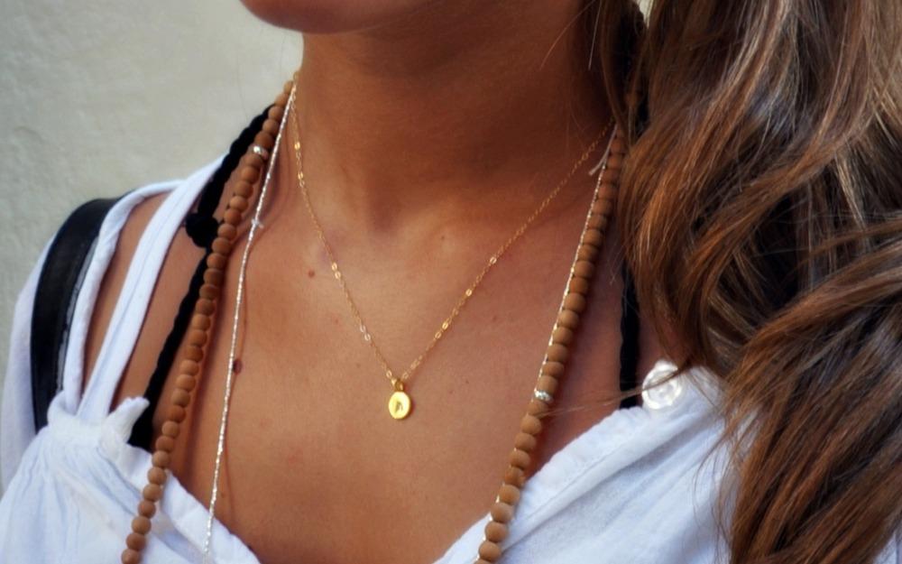 Filigrane goldkette mit anhanger