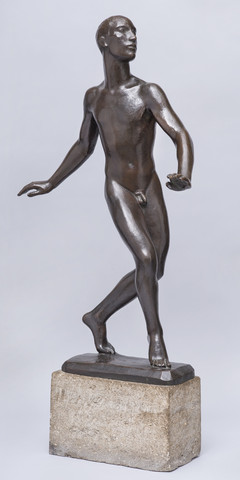 Skulptur: Tänzer Nijinsky, 1913 - 1919, von Georg Kolbe - (Interpretation, skulptur, komposition)
