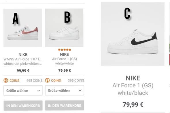 Findet ihr A, B oder C schöner? Ich möchte mir neue Schuhe kaufen, aber kann mich nicht entscheiden zwischen den 3?