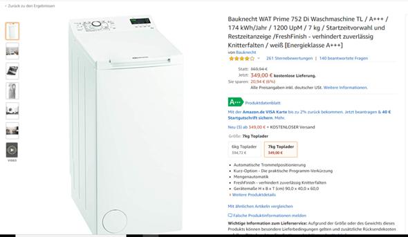 Findet ihr diese Waschmaschine gut sie ist von der Marke Bauknecht?