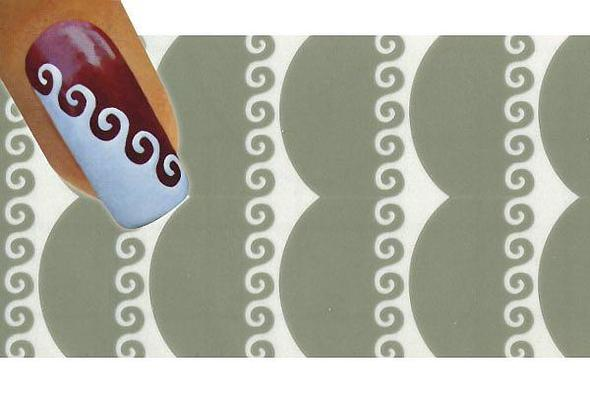 fingern gel schablonen design muster schablone. Black Bedroom Furniture Sets. Home Design Ideas