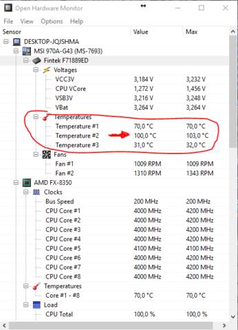 Siehe Bild - (Computer, Prozessor, Temperatur)