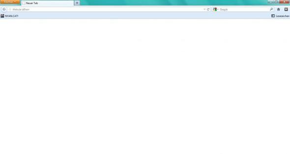 Screen Shot von der Seite - (Firefox, weiße seite)
