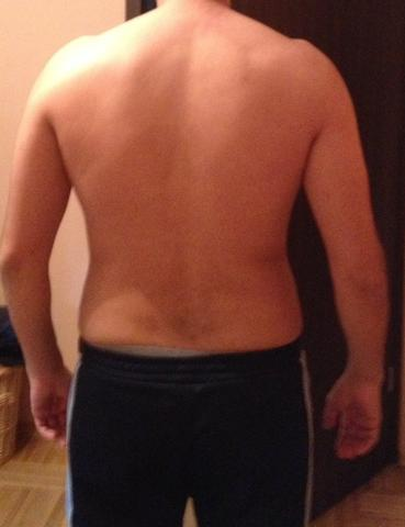 Mann bodybuilding hüfte breite Breite Hüft