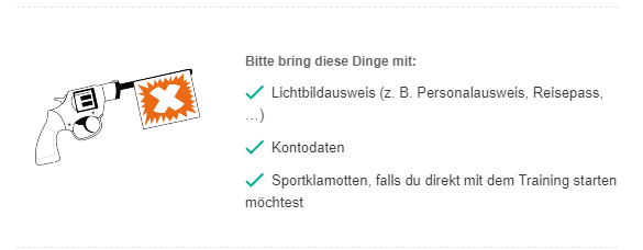 FitX Kontodaten mitbringen was bedeutet das?