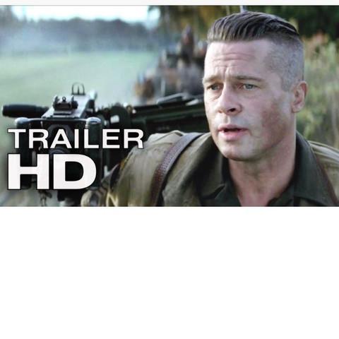 Das ist Bradd Pitt im Film Fury  - (Haare, Frisur)