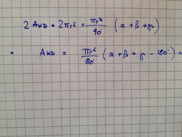 Die obere Formel, und die Umgeformte - (Mathematik, Dreieck, Flächen)
