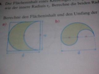 die ersten beiden Flächen - (Mathe, Kreis)