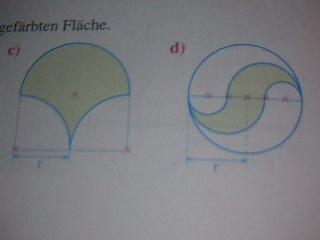die anderen beiden flächen - (Mathe, Kreis)