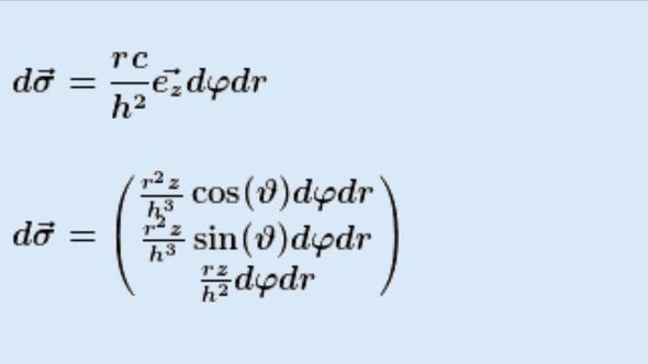Meine erste Lösung fürs Flächenelement - (Mathematik, Flächenelement eines Kegels)