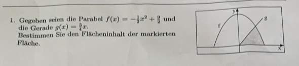 Flächeninhalt bestimmen zwischen zwei funktionen?