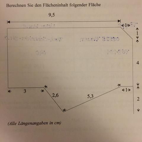 Flächeninhaltsberechnung/Geometrie? (Mathe, Mathematik, Geo)