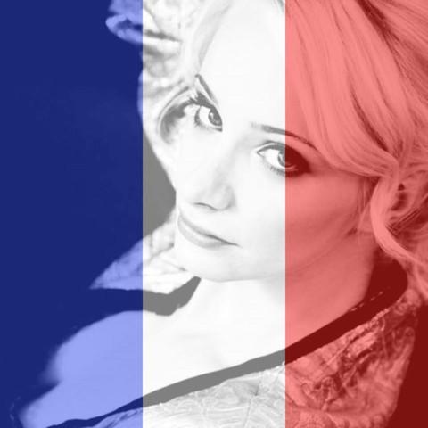 Bild mit Hintergrund Flagge Frankreich - (Computer, Hintergrund, Bildbearbeitungsprogramm)