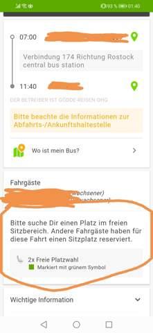 Flixbus Sitzplatz storniert?