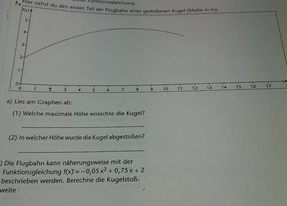 Hier mal die Aufgabe (unten) - (Mathematik, Parabel, Funktionsgleichungen)