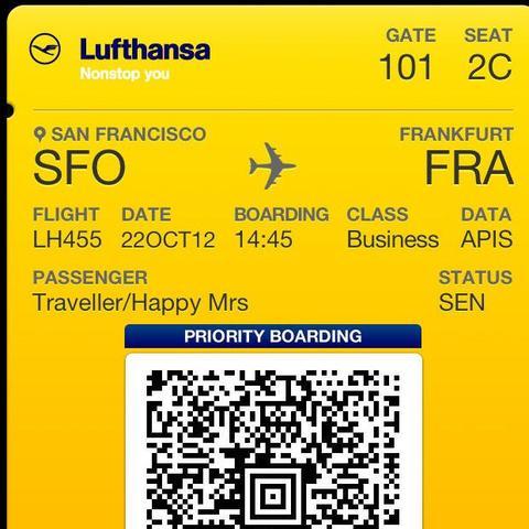 So ein Ticket mein ich. ;) - (Apple, iPhone, fliegen)