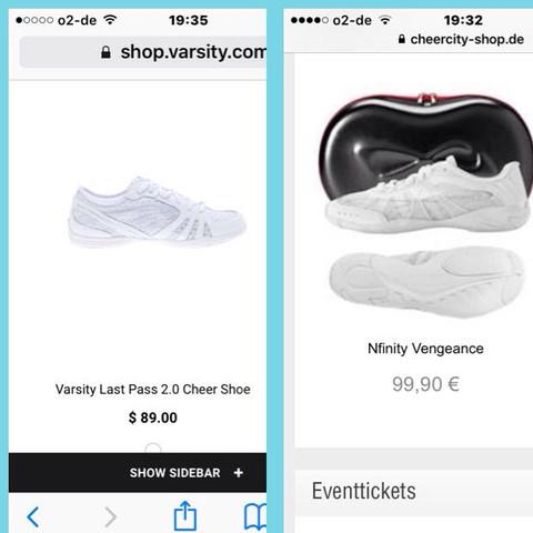 Das sind die beiden Schuhe - (Schuhe, Cheerleading, cheerleaderschuhe)