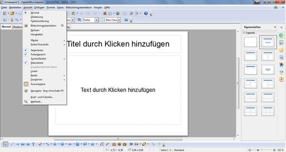 OpenOffice Impress - (Programm, Software, Windows 7)