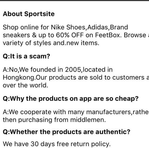 4. Bild: das ist die Erklärung der Seite warum die Schuhe so billig wären - (Apple, Schuhe, App)