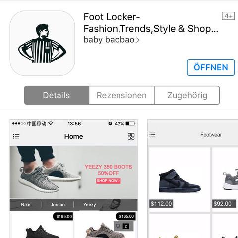 5. Bild: so sieht die App im AppStore aus  - (Apple, Schuhe, App)
