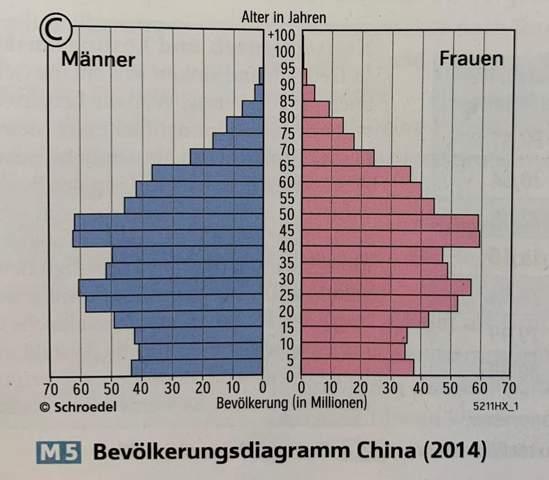 Form des Bevölkerungsdiagramms?