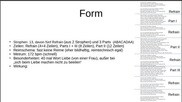 Form Eines Liebesliedes Musik Deutsch Gedicht