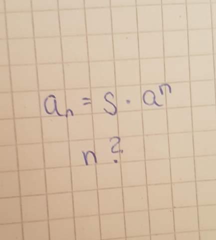 Formel  nach n umstellen?