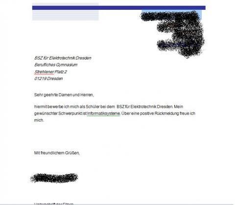 formloser antrag bild beigehngt bitte gucken bewerbung - Antrag Schreiben Muster