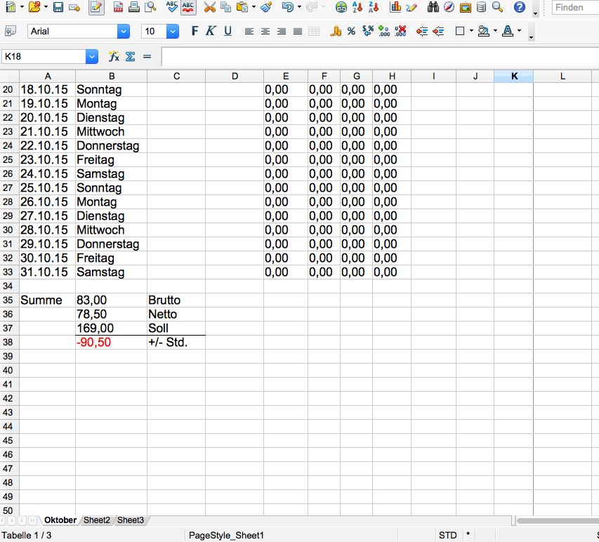 Fortlaufende Worksheet Excel? (Tabelle, Monat)