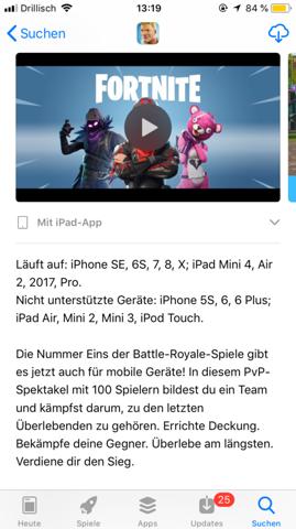 wie schon im titel beschrieben wollte ich euch fragen ob es auch auf dem iphone 6s plus moglich ist fortnite battle royale zu spielen - auf welchem ipad kann man fortnite spielen
