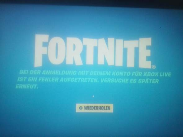 Fortnite xbox live fehler?