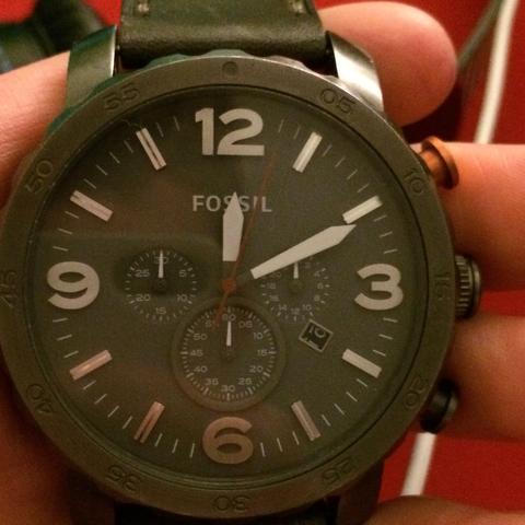 Uhr.  - (Uhr, Leder, Fossil)