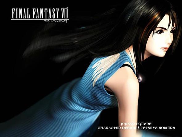 Rinoa - Final Fantasy 8 - Seitenansicht - (Anime, Farbe, Videospiele)