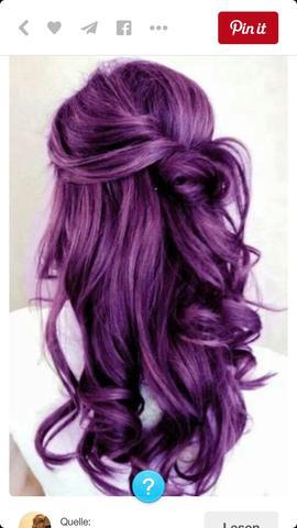 Haare - (Haare, lila)