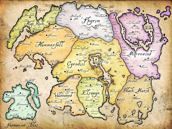 Das Königreich Tamrie - (the-elder-scrolls, Region, Tamriel)