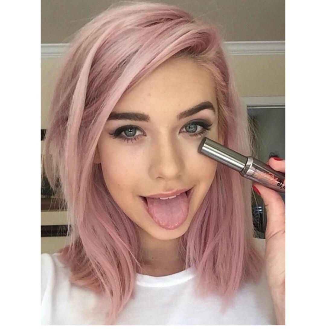 Blonde haare rosa tonen